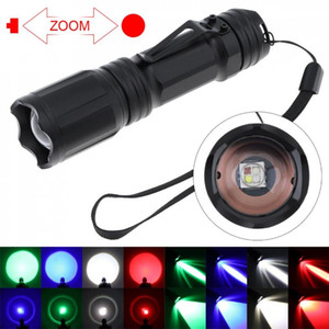 X004 4 Colors LED Waterproof Zoomable for Camping   Hiking   Hunting Fishing Backpacking