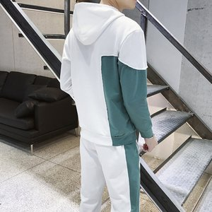 Fashion White Tracksuit Men Hip Hop Streetwear Men Tracksuits Hoodies Men Fashions Track Suit Mans Clothing Fashionable II50NSTZ T200709