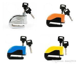 Security Motorcycle Bike Alarm bicycle locks Sturdy Wheel Disc Brake Lock Safety Alarm lock with Battery And key