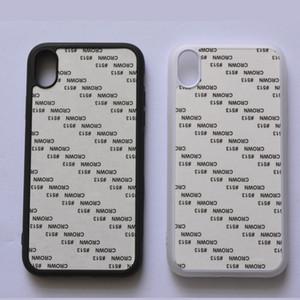 Prix de gros promotionnel pour 2D Sublimation TPU + PC Case trou rond pour iPhone 6 8p XS XS XR Max Avec perle blanc feuille 2D caoutchouc Couverture