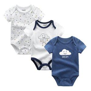 2020 3PCS / Lot bébé garçon Vêtements Bodysuots bébé fille Vêtements Unicorn filles Vêtements unisexe 0-12m Barboteuse Roupas de bebe