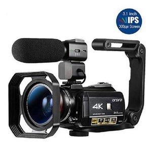 2020 كاميرا فيديو جديد 4K كاميرا ORDRO AC3 24FPS 30X الرقمية ليلة تكبير الرؤية واي فاي كامارا Filmadora مدونة فيديو
