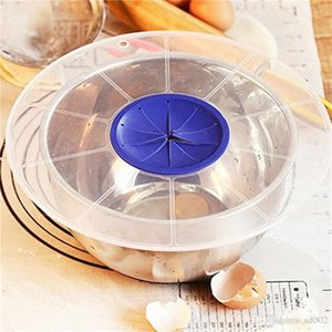 Su geçirmez Bowl Kapaklar Mutfak Pişirme Araçları Anti Kaçak Plastik Yumurta Çanaklar Karıştırıcılar Yağmur geçirmez Kapak Yenilik Faydalı Tasarım 7 7mc ZZ