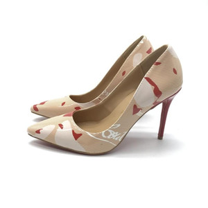 sslouboutinCL2019 designer lady leather patent Red bottom Women dress shoes Rhinestones wedding shoes Sexy pointed toe
