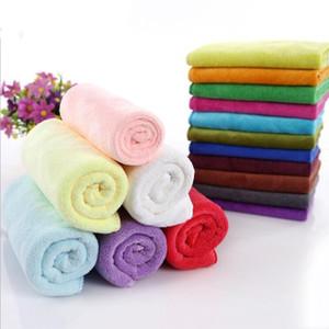منشفة جديدة ستوكات مناشف باندانا الصلبة ساحة اللون تنظيف Toallas ماص العمامة مناشف الوجه الرئيسية مطبخ تنظيف Facecloth LSK549