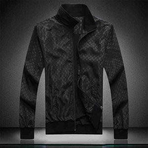 2020 new men's tide burst stand collar thin coat autumn fashion flower jellyfish Medusa body print trend casual Designer jacket size M-3XL