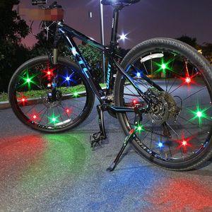 Led Luzes da bicicleta Steel Wire lâmpada que brilha Falou fogo Roda Lâmpadas Acessórios da bicicleta Balance roda de vento decorativos do projeto impermeável 2 5-il D2