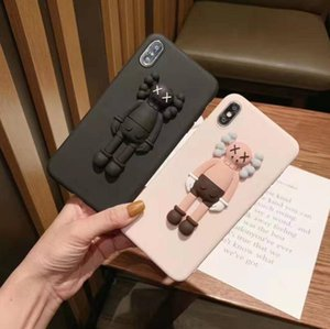 Per iphone 11 por max xs max xr x 6 6s 7 8 plus custodia custodia kaws giocattolo 3d giocattolo cartone animato morbido gomma in silicone carino 2020