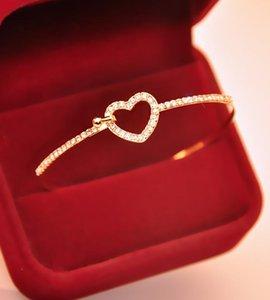 Charm Bracelets Blanks Luxury Korean Jewelry Bow Sweet Bracelet Clover Opal Gold bracelets bangles