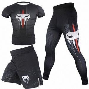 t shirt muay thai shorts bjj rashguard shirts+pants pantalones muay thai clothing rash guard boxing jerseys jiu jitsu sets XXqP#