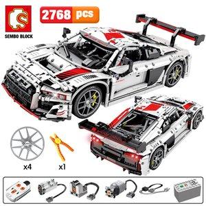 2768pcs Ville à distance de contrôle Véhicules de sport Blocs de construction Créateur Technic RC / non-RC Racing Car MOC modèle Briques jouets pour les enfants