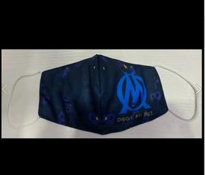 Coton masque de football Marseille flamengo utilisation durable des masques jetables remplaçables équipe de football gros club de football masque Protect
