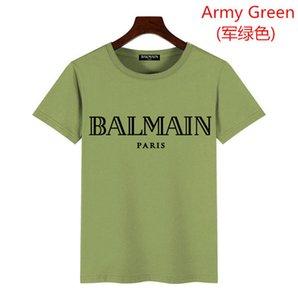 HEISS! UNHS 19FW Bandan BOGO T 8COLORS Balmain Straße Skateboard Männer Frauen T-Shirt Mode Kurzärmlig Lässige Außen Printed T-Shir