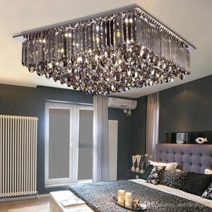 Fashion Pendant Lamp Crystal Square LED Ceiling Lights Mordern creative Chandeliers Lighting Dimmable Indoor LED Ceiling Lamp