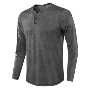 Designer Tshirts for Man V Neck Long Sleeve Loose Mens Tshirts Casual Solid Color Homme Tops