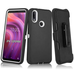 for Samsung Note 20 Plus Moto G Stylus G Power E7 E 2020 G8 Play Plus New Models Defender Case 3 in 1 Robot Clip Cover Case