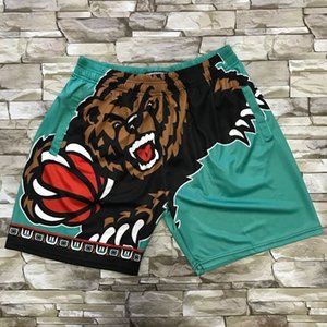 2 BASKETBALL JERSEYS Mitchellness series Drift S-XXL green pocket shorts Cheap stitched Basketball jerseys