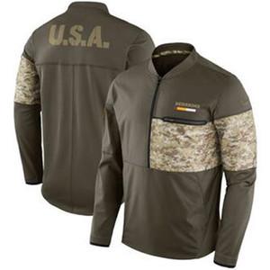 Top Quality ! Mens Washington New Style Redskin Jacket Authentic Sweatshirt Vintage Salute to Service Sideline Half-Zip Pullover Jacket