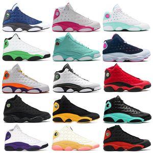 Nike Air Jordan Retro 13  hommes femmes chaussures de basket-ball New Bred DMP Feu rouge ciment AirrétroConcord Hare Flint chaussures de sport