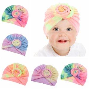 Baby-Turban Hat Gradient Kleinkind Knoten Caps Elastic Mädchen Haarbänder Turban Kinder Kopf Wraps Baby Kopfbedeckung Haarschmuck HHA1440