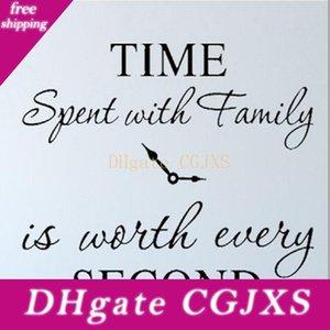 Le temps passé en famille est Worth Every Second Stickers muraux amovibles Art DIY famille autocollant Citations Home Decor