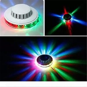 Amazing Mini UFO Portable Laser Stage lights Sunflower RGB led lighting wall lamp for KTV DJ Party Wedding US EU Plug Effect light