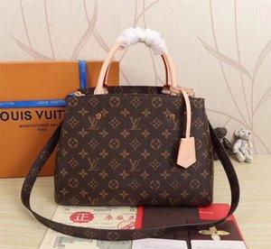 Neu Top 5A Qualitäts-echtes Leder 41056 Kuhfell Umhängetasche messengerbag klassische quadratische Tasche 3 Größen Mode Handtasche Frauen-Mode-Tasche