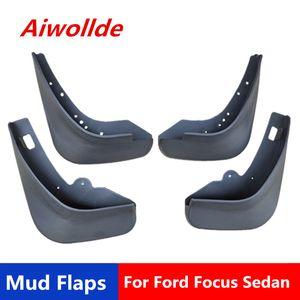 Car Mud flaps For Ford Focus 2 MK2 MK2.5 Saloon Sedan 2005-2011 Mudflaps Splash Guards Fender Mudguards Mud Flaps