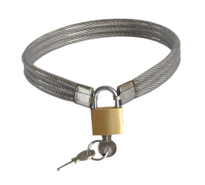 Latest Stainless Steel Wire Slave Necklet Neck Ring Metal Collar Restraint Bondage Lock Adult BDSM Sex Toy For Male Female