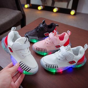 2020 new autumn sneakers LED lighting male and female children's luminous sports casual shoes non-slip baby's children's shoes