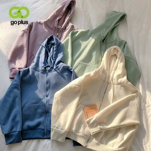 GOPLUS Hoodie Coat Autumn Winter Korean Style long Sleeve Oversized Loose Hoodies Sweatshirt Womans Clothes Moletom Feminino