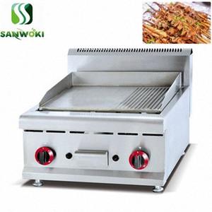 Gaz barbekü Izgaralar Plancha Paslanmaz Çelik Demir Pişirme Plakası barbekü kalbur El Kek Yapma Makinası Teppanyaki Gaz Cast Iron Griddle WiZv #