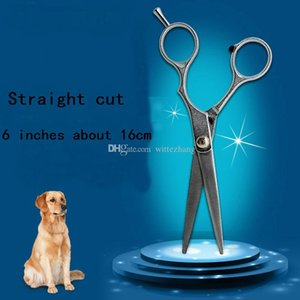 New 6 inches dog grooming scissors Pet Dog Cat Professional stainless steel Grooming Hair Thinning Scissors and Straight Cutting