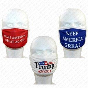 Trump Letters Masken Waschbar Designer-Gesichtsmaske doppelte Schicht-Schutzmundschutz Make America Great Again Cotton Mask Verkauf D72805 Drucken