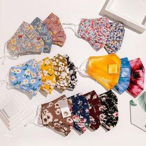 타이 염료면 밀짚 꽃은 보호 패션 입 커버 CYF4278 야외 인쇄 마스크 방진 음료 구멍 마스크 인쇄
