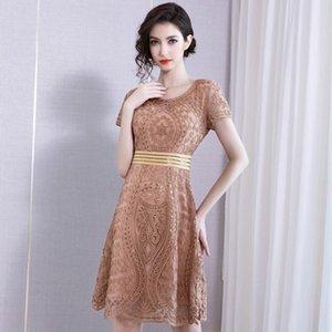 2020 Nakış Yuvarlak Yaka Will Sarkaç Kısa Kollu Etek 19 Shenzhen Will Kod Suit-elbise