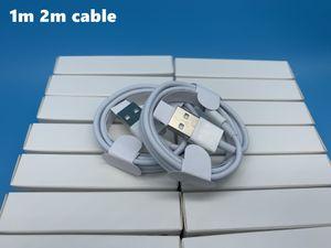 7 gerações DHL 100pcs qualidade Original OEM 1m 3 pés 2m 6AF USB telefone Data Sync Charge Cable Com pacote de varejo