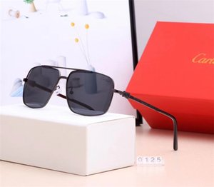 With box Fashion Luxurious designer Sunglasses for men women driving frog mirror Car̴tier beach Cartìer Holiday woman sun glasses 91