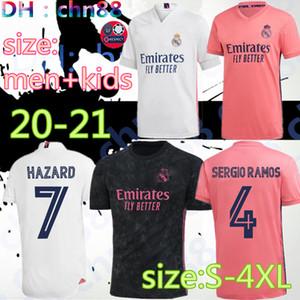 2020 2021 El mayor tamaño XXL XXXL Real Madrid de fútbol Jersey 20 21 BALE # 11 # 20 ASENSIO PELIGRO 7 # ramos sergio # 4 camisetas de parche