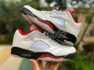 2020 Fire Red 5s Men Basketball Shoes 5 Mens Top 3 Alternate NakeskinJordanRetro 5 White Cement Metallic Black Sports Sneaker
