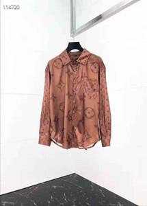 2020 New SpringFloral Print Colour Mixture Brand New Mens Dress Shirts Fashion Casual Shirt Men Medusa Shirts Gold Floral Print Slim Fit Shi