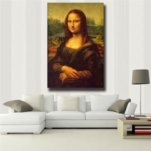 """Enorme parede Imagem Leonardo Da Vinci """"Mona Lisa Smile"""" Wall Decor pintado à mão HD Imprimir pintura a óleo sobre Wall Art Canvas Canvas 200727"""