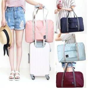 Fashion Folding Lage Storage Bags Suitcase Travel Waterproof Pouch Handbag Shoulder Bag Organizer Tote Bag