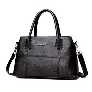 Женщина Handsbag сумки для женщин 2020 женщин способа Кожа сращивания сумки Сумка Crossbody Сумка Tote Bag Schoudertas 7.721
