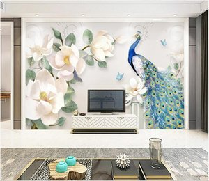 3d wallpaper cloth custom photo Modern minimalist hand-painted oil painting floral background murals wallpaper for walls 3 d living room