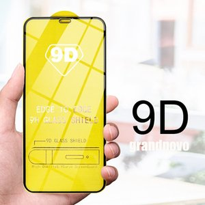 Pantalla de película de la cubierta 9D completa Pegamento de cristal templado de borde curvado Protector para Xiaomi Mi Nota 10 Lite 9 SE 9T 9X CC9 CC9E POCO X2 Pro M2 A3