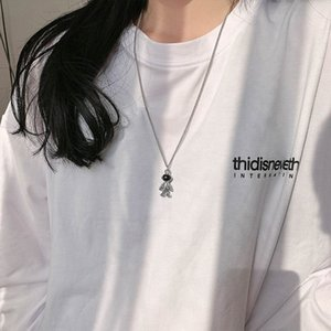 Astronaut Hip-hop Disco Sweater Sweater Necklace Female Trendy Net Red Ins Pendant Long All-match Simple Clavicle Chain