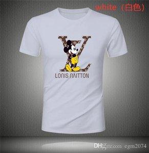 Мужская футболка LOUIS VUITTON Мужчины Женщины Высокое качество печати вскользь с коротким рукавом Мужские Стилисты тройники 8 цветов мужские дизайнерские костюмы