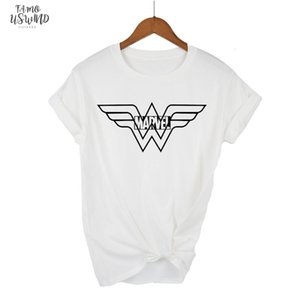 High Quality Elastic Cotton Short Women T Shirt Anime Wonder Woman T Shirt Superhero Tee Femme Printed Harajuku Manga Marvel Tshirt