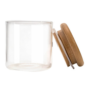 Thick Glass Bamboo Wood Silicone Seal Storage Bottle Herb Tobacco Spice Miller Stash Case Grinder Cigarette Smoking Box Container Holder DHL